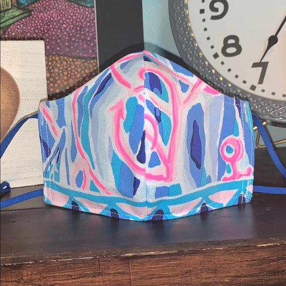 "Lilly Pulitzer Accessories - ""Reel Nauti"" 2020 Lilly Print Face Mask"